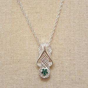 Jewelry - May Birthstone Flip Flop Necklace